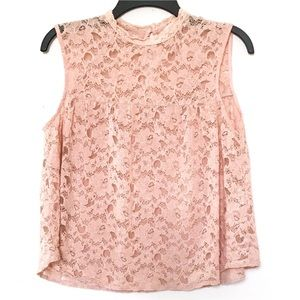 EUC Elodie High Neck Babydoll Swing Lace Blouse